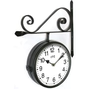 Infinity Instruments Barlow Double-sided Business Wall Clock and Bracket