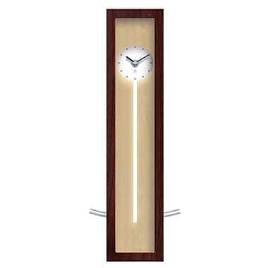 Infinity Instruments 9952AW/673 High Rise Wood Analog Wall Clock, Brown/Beige