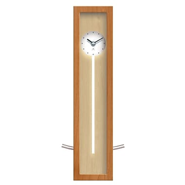 Infinity Instruments High Rise Wall or Table Clock, Natural Case