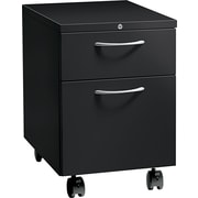 HON® Flagship® 22 7/8D 2 Drawer Arch Pull Mobile Box/File Pedestal, Black