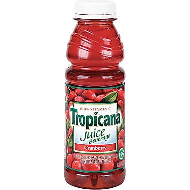 Tropicana® Cranberry Juice, 15.2 oz. Bottles, 12/Case