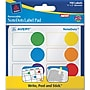 Avery ® 45285 NoteDots Paper Label Pad, Assorted,