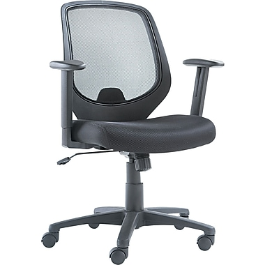 OIF Mid Back Mesh Swivel/Tilt Chair, Black