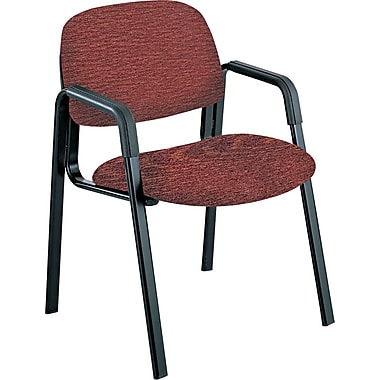 Safco® Cava Urth® Collection Straight Leg Recycled Polyester Fabric Guest Chair, Burgundy