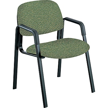 Safco  Cava Urth  Collection Straight Leg Recycled Polyester Fabric Guest Chair, Green