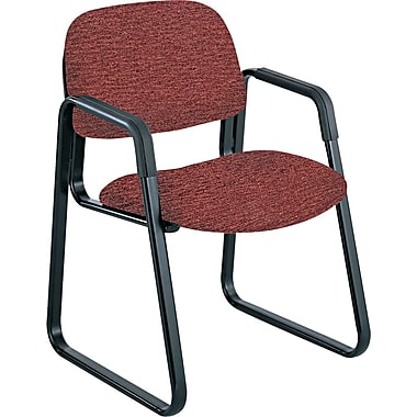 Safco® Cava Urth® Collection Sled Base Recycled Polyester Fabric Guest Chair, Burgundy