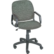 Safco Products 7045GR Cava Urth Polyester High-Back Desk Chair with Fixed Arms, Gray
