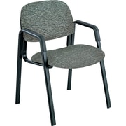 Safco  Cava Urth  Collection Straight Leg Recycled Polyester Fabric Guest Chair, Gray