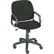 Safco ® Cava Urth ® Collection High Back Recycled Polyester Fabric Swivel/Tilt Chair, Black