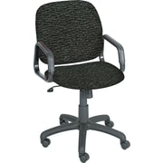 Safco Products 7045BL Cava Urth Polyester High-Back Desk Chair with Fixed Arms, Black