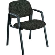 Safco ® Cava Urth ® Collection Straight Leg Recycled Polyester Fabric Guest Chair, Black