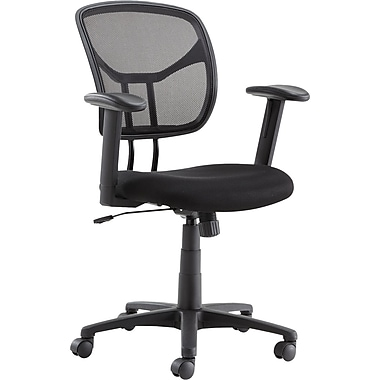 OIF MT4818 Mesh Task Chair with Adjustable Arms, Black