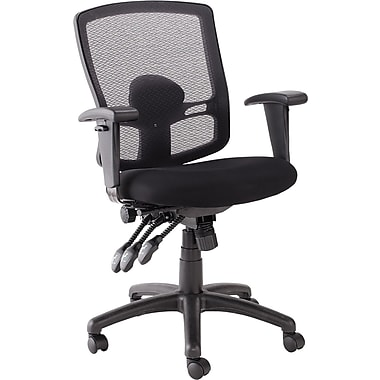 Alera Etros Mesh Mid Back Petite Multifunction Chair, Black