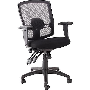 Alera® Etros Mesh Mid Back Petite Multifunction Chair, Black