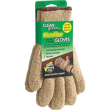 Master Caster  CleanGreen™ Microfiber Dusting Gloves, Beige, 5in.(W) x 10in.(L)