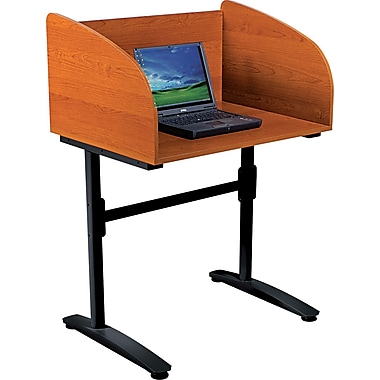BALT® Lumina™ Starter Carrel, Cherry/Black
