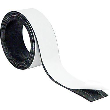 Master Vision 1in.(H) x 4'(L) Magnetic Adhesive Tape Roll, Black