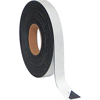 Master Vision 1in.(H) x 50'(L) Magnetic Adhesive Tape Roll, Black