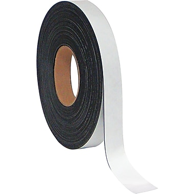 Master Vision 1in.(H) x 50'(L) Dry Erase Magnetic Tape Roll, White