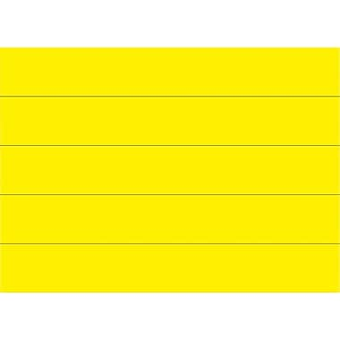 Master Vision 7/8in.(H) x 6in.(L) Dry Erase Magnetic Tape Strip, Yellow