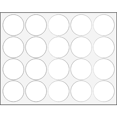 Master Vision Interchangeable Magnetic Character, Circles, White