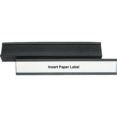 Master Vision 1in.(H) x 6in.(W) Magnetic Card Holder, Black