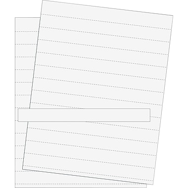 MasterVision® Data Card Replacement Sheets, White