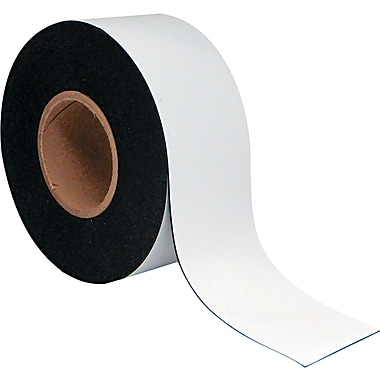 Master Vision 3in.(H) x 50'(L) Dry Erase Magnetic Tape Roll, White