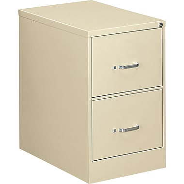 OIF 26 1/2in.D 2 Drawer Legal Size Economy Vertical File, Putty