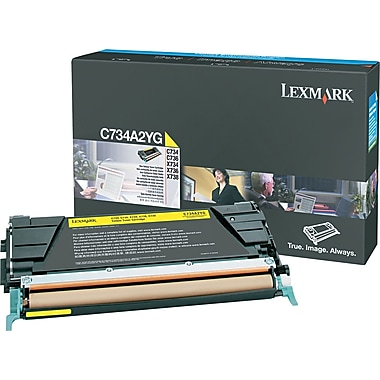 Lexmark C734/X734 Yellow Toner Cartridge (C734A2YG)