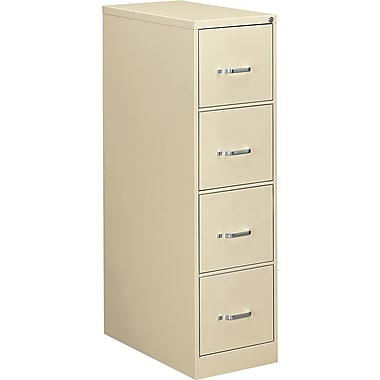 OIF 26 1/2in. Deep 4 Drawer Letter Size Economy Vertical File, Putty