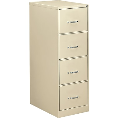 OIF 26 1/2in.D 4 Drawer Legal Size Economy Vertical File, Putty