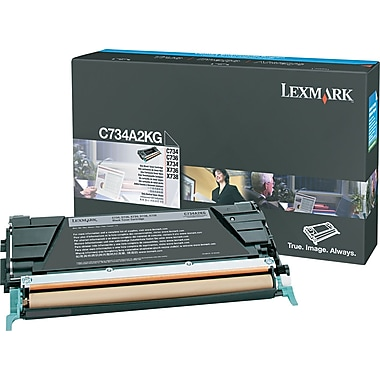 Lexmark Black Toner Cartridge (C734A2KG)