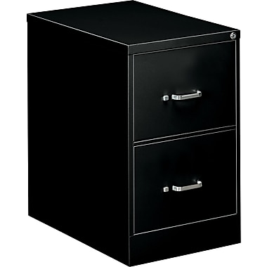 OIF 26 1/2in.D 2 Drawer Legal Size Economy Vertical File, Black