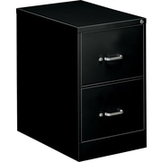 "OIF 26 1/2"" Deep 2 Drawer Legal Size Economy Vertical File, Black"