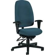 Global Granada® Polypropylene High Back Multi-Tilter Chair, Ocean Blue