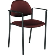 Global Comet™ 100% Polypropylene Stacking Chair, Burgundy