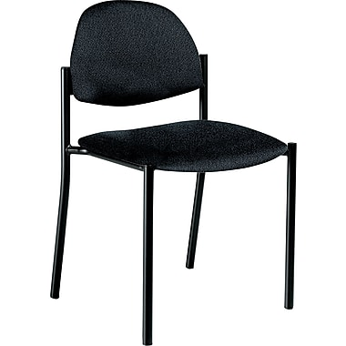 Global Comet™ 100% Polypropylene Armless Stacking Chair, Black