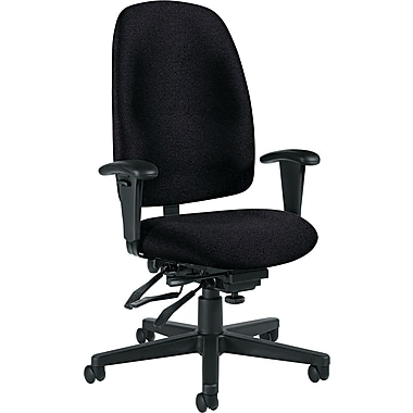 Global Granada® Polypropylene High Back Multi-Tilter Chair, Asphalt Black