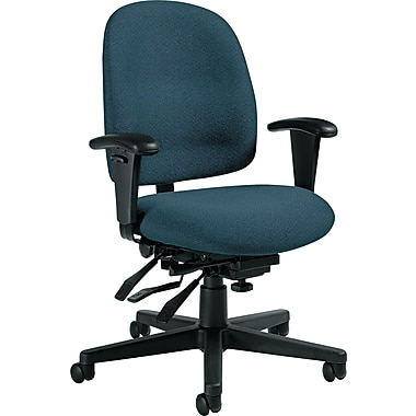 Global Granada® Polypropylene Low Back Multi-Tilter Chair, Ocean Blue