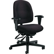 Global Granada® Polypropylene Low Back Multi-Tilter Chair, Asphalt Black