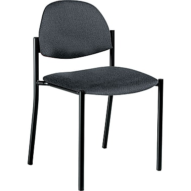 Global Comet™ 100% Polypropylene Armless Stacking Chair, Gray