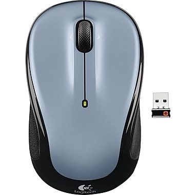Logitech M325 Wireless Mouse, Light Silver