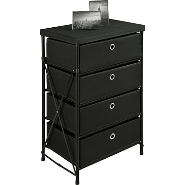 Altra Vertical 4-Bin Storage Unit, Black