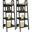 Altra Ladder Bookcases, Black, 2/pack