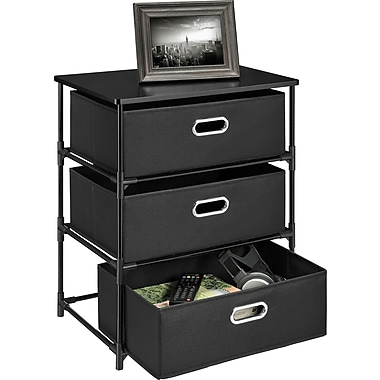 Altra™ End Table 3-Bin Storage, Black