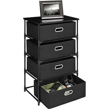 Altra End Table 4-Bin Storage, Black
