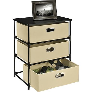 Altra End Table 3-Bin Storage, Natural