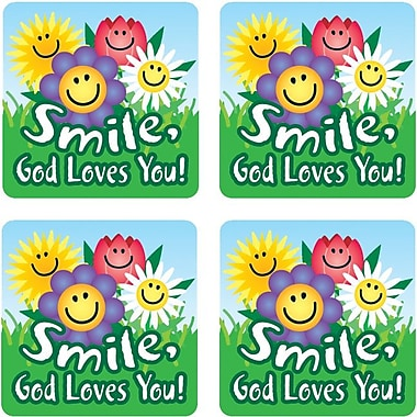 Carson-Dellosa Smile, God Loves You! Stickers