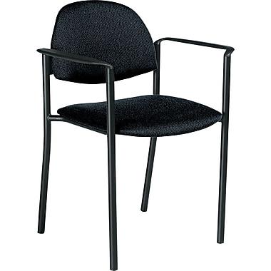 Global Comet™ 100% Polypropylene Stacking Chair, Black